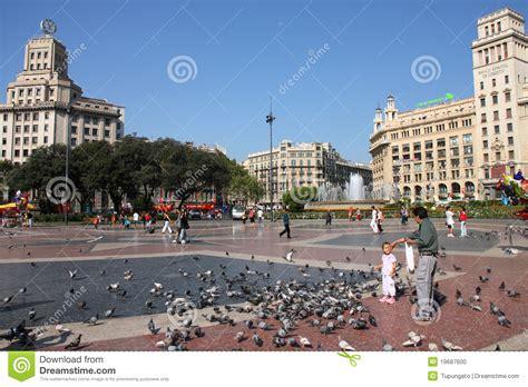 barcelona catalunya barcelona placa catalunya editorial image image 19687600