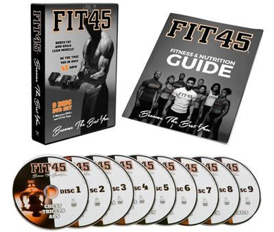 fit45 best home dvd fitness program fit45