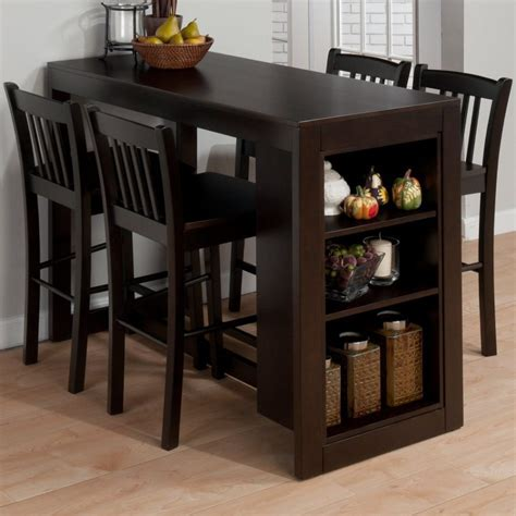 Dining Room High Tables | dining room awesome high table sets with brown wood