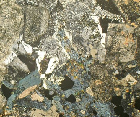 diorite thin section markfieldite diorite leicestershire england thin