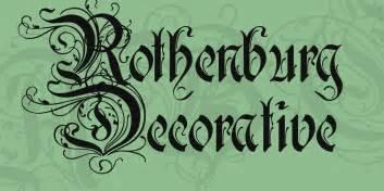 rothenburg decorative font 183 1001 fonts
