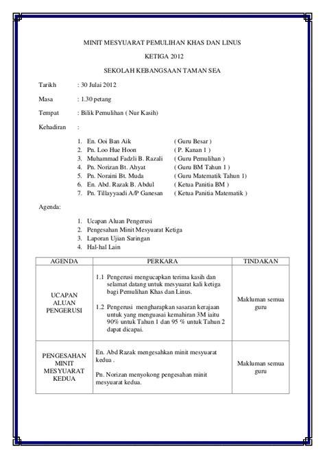 format laporan minit mesyuarat terkini contoh minit mesyuarat linus kali kedua downlllll