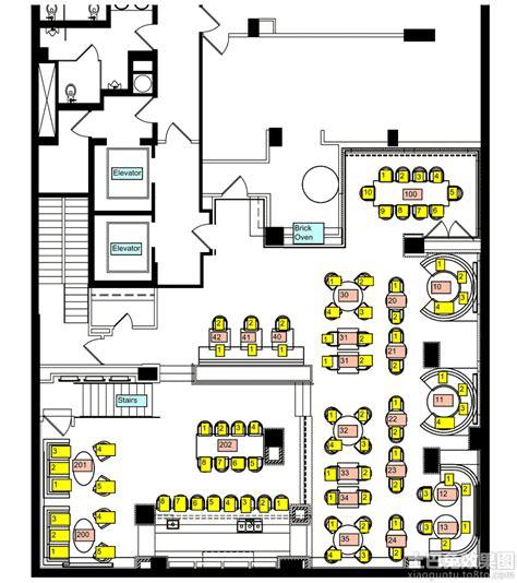 building layout en español 咖啡厅室内平面图 土巴兔装修效果图