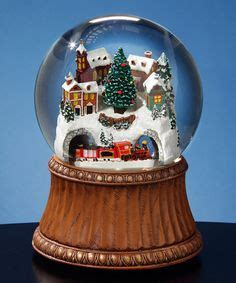 holiday memories lighted village and train music box 1000 images about beautiful snow globes on