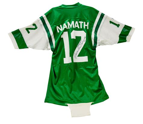 lot detail joe namath signed and used jets home