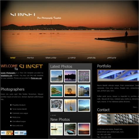 graphic design layout websites sunset free website templates in css html js format for