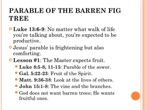 not the he expected talk candidly about their relationship with their books the parable of the barren fig tree