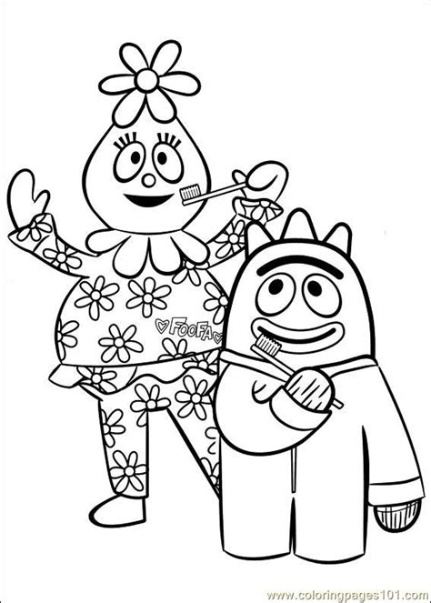 printable coloring pages yo gabba gabba yo gabba gabba 18 coloring page free miscellaneous
