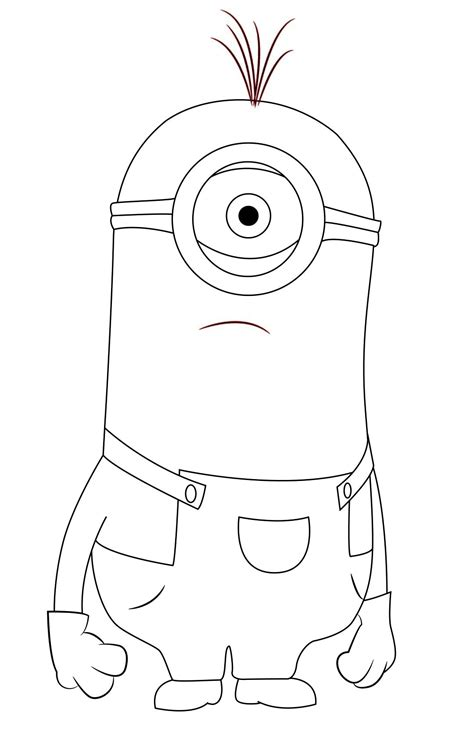 kevin dispicable me coloring pages