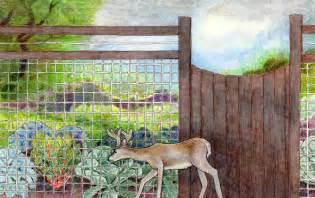 Urban Gardener Blog - keeping deer out of the garden bonnie plants