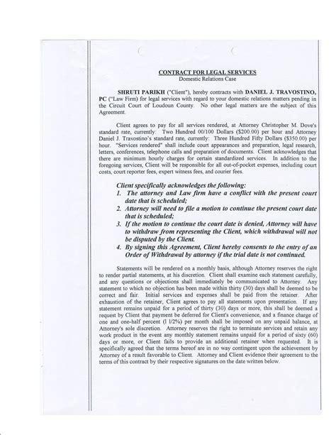 Divorce Retainer Letter To Paulmjd Attorneys Misconduct Malpractise