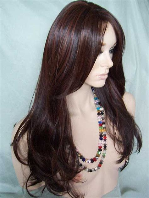 A Darker Haired Wants To Adopt by Brown Auburn Highlights And Wigs On