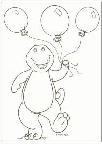 free printable barney coloring pages kids