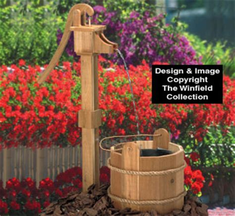 yard garden projects  pump washtub wood plan