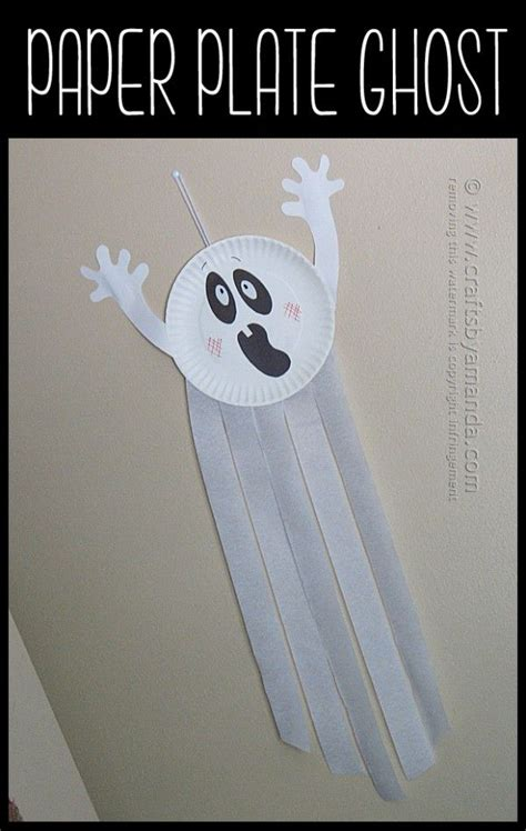 Paper Plate Ghost Craft - paper plate ghost recipe