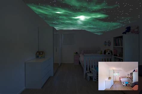 glow in the dark paint for bedroom walls luminous wall art