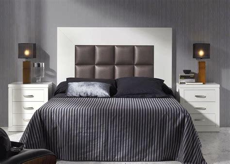 dormitorio matrimonio madera  cabecero recto tapizado