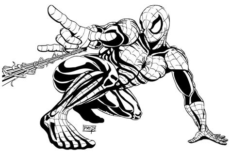 Spiderman Desktop Poster   Ink by Winter City Comics on