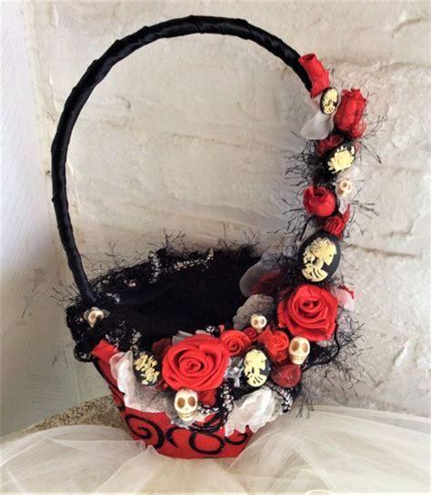 Gothic Wedding Flower Basket Flower Girls Basket for