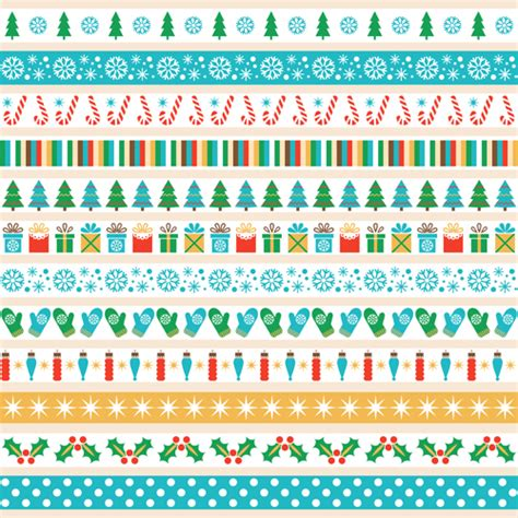 christmas pattern border 2016 christmas borders seamless vector 04 vector