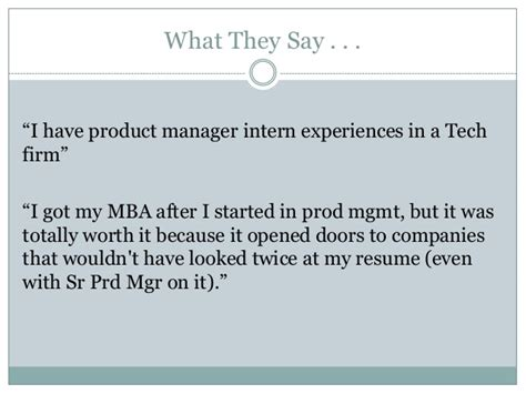 Mba In Hr Worth It by Getting Started In Product Management