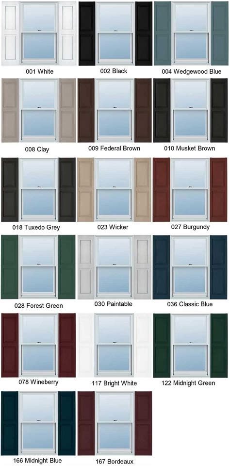 mid america shutter colors decorative exterior vinyl shutters color choices hooks