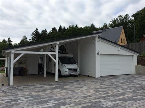 pultdach garage garage carport kombination carport scherzer