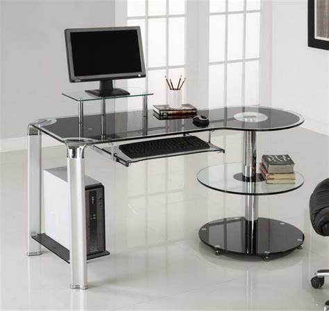 Glass Desk Office Furniture Glass Office Desk Ikea Homefurniture Org