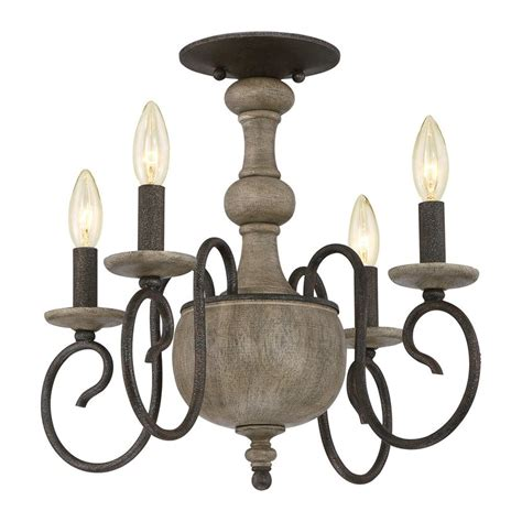 rustic semi flush mount lighting shop quoizel castile 18 in w rustic black no shades semi