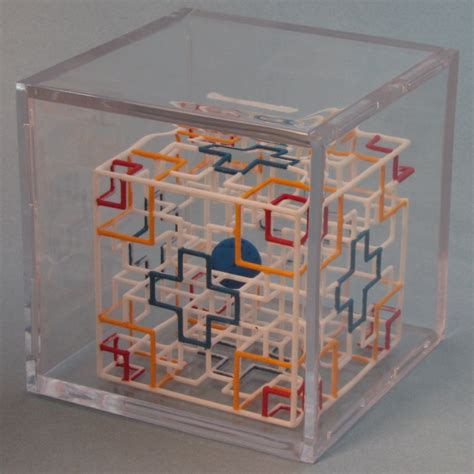 Handmade Puzzle - rolling maze puzzle cube with painted 3d