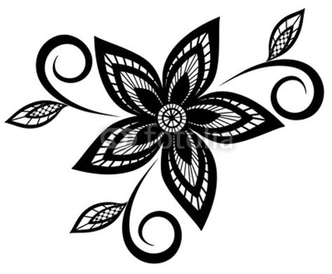 flower pattern black and white clipart black and white flower design clipart best