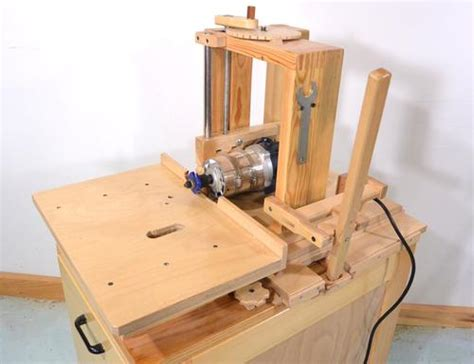 one of a woodworking horizontal router table for the slot mortiser