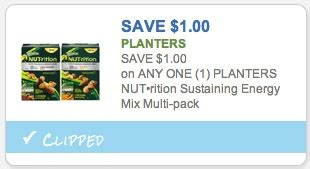 Planters Nutrition Coupon by Planters Nutrition Coupon 1 Any Nut Rition