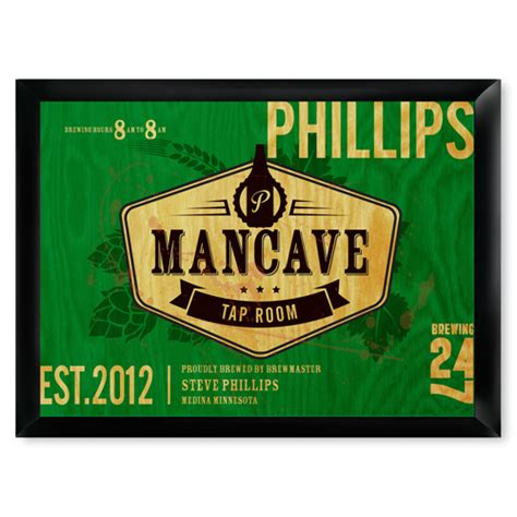 mancave tap room sign personalized man cave gear