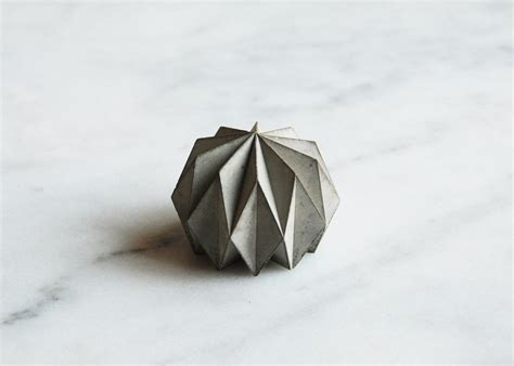 Concrete Origami - origami concrete paperweight havelock studio