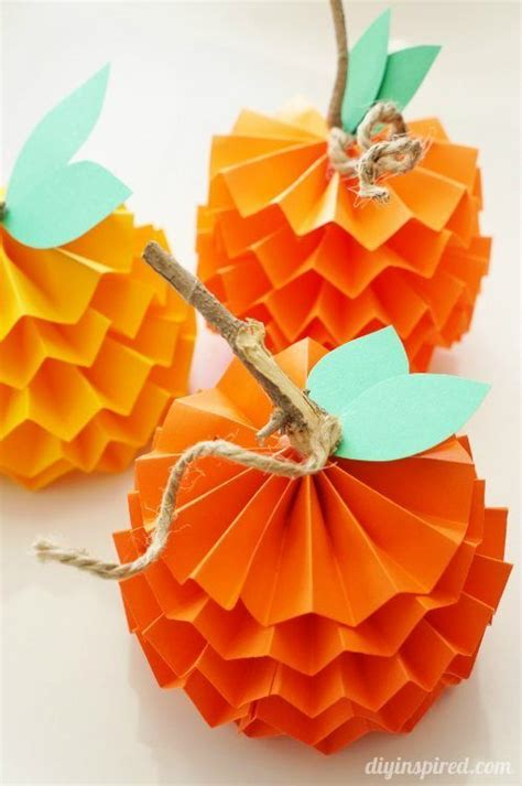 diy fall crafts 29 and easy thanksgiving craft ideas paper pumpkin diy fall crafts and twine