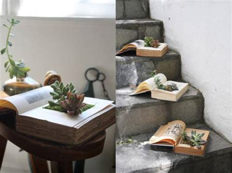 How To Make A Book Planter by 10 Vasi Fai Da Te Dalla Spazzatura Greenme