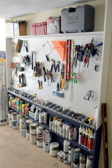 garage pegboard wall  images garage wall organizer