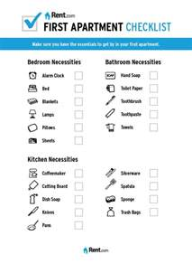 home necessities your first apartment checklist rent com blog