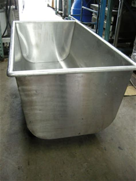 stainless steel dough trough used condition used