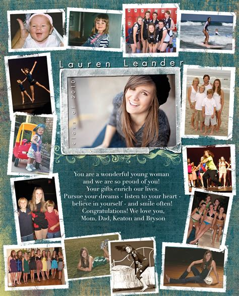 senior ad template yearbook page quotes quotesgram