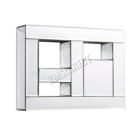mirrored floating shelves foxhunter bevelled mirrored furniture glass floating wall