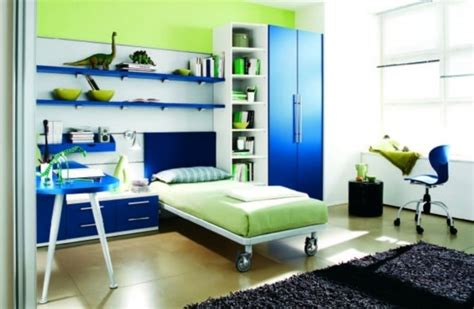 blue and green bedroom ideas blue green bed on wheels colorful kids room design idea