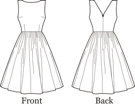 template for sewing dress pattern sewing pattern