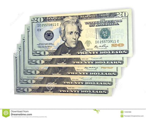 twenty five dollars twenty dollars royalty free stock image image 13002386
