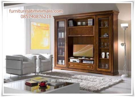 model bufet tv jati penyekat ruang bufet tv jati bufet tv furniture jati minimalis furniture