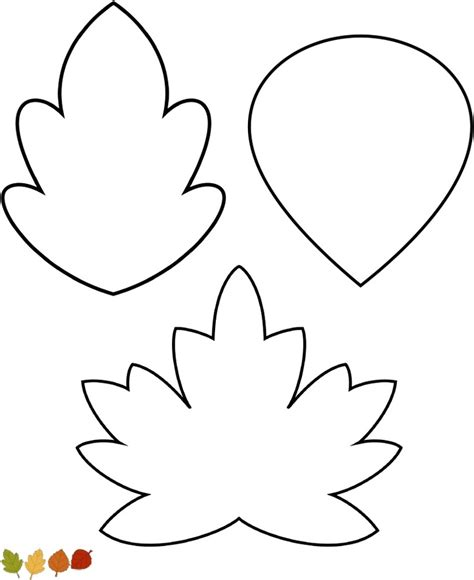 leave template template for leaves az coloring pages
