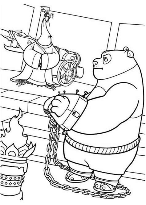 po  handcuffed  kung fu panda coloring page