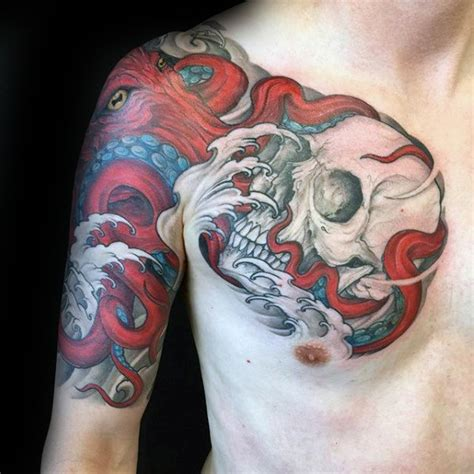 tattoo octopus color tattoo arm tattoo chest tattoo animal 50 octopus sleeve tattoo designs for men manly ink ideas