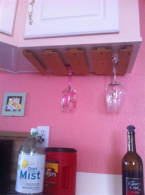 diy decorations yt diy wine glass holder diy kitchen ideas